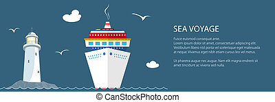 hajóút, transzparens, tenger