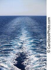 hajó, ébred, cirkálás