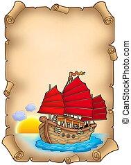 hajó, öreg, felcsavar, kínai
