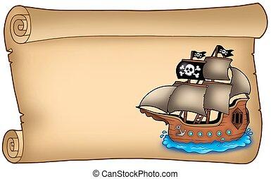 hajó, öreg, felcsavar, kalóz