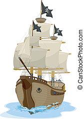 hajó, 2, kalóz