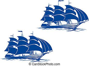 hajó, brigantine
