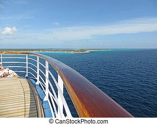 hajó cruise, korlát, fedélzet