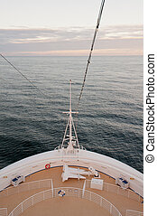 hajó cruise, tenger, íj