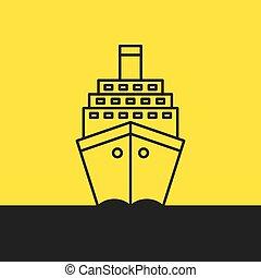 hajó cruise, tenger, személyszállító hajó