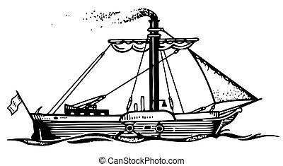 hajó, gőz