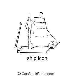 hajó, ikon