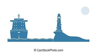 hajó, ipari, világítótorony