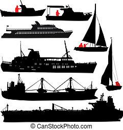 hajó, körvonal