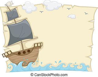 hajó, kalóz, háttér