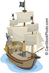 hajó, kalóz
