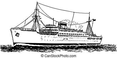 hajó, modern