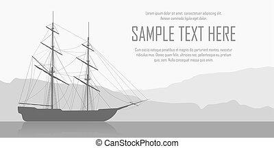 hajó, táj, vitorlázás