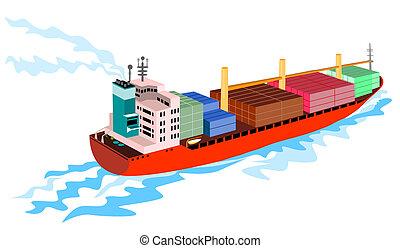 hajó tároló