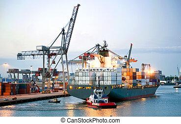 hajó tároló, manouvering