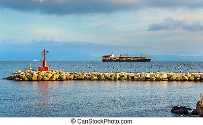 hajó tároló, nápoly, öböl
