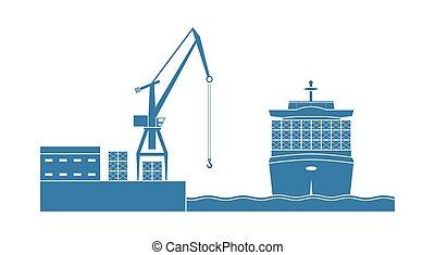 hajó tároló, port.