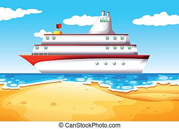 hajó, tengerpart