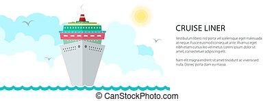 hajó, transzparens, cirkálás