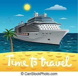 hajó, utazás, cirkálás