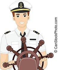 hajó vezető, ember