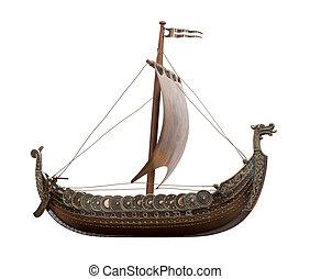 hajó, viking, elszigetelt
