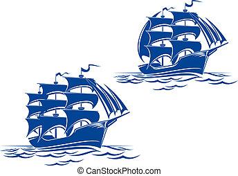 hajó, vitorlázik