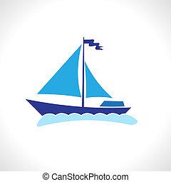 hajó, vitorlázik, elszigetelt
