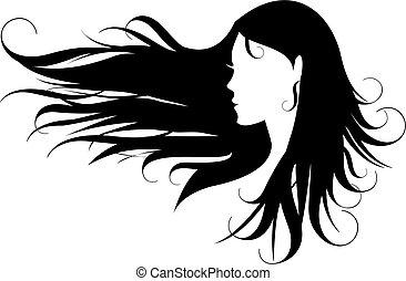 haj, fekete