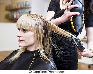 haj, helyzet, fogadószoba