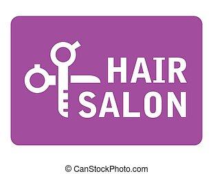 haj, olló, fogadószoba, ikon