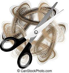 haj, ollóval vág
