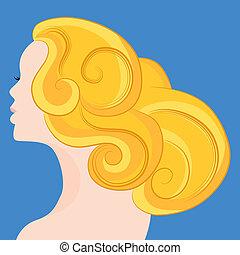 haj, szőke, nő