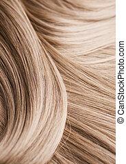haj, szőke, struktúra