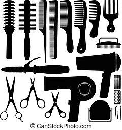 haj, vektor, árnykép, segédszervek