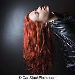 haj, woman., hosszú