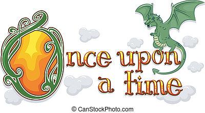 hajdani, idő, az eredményeképpen, sárkány