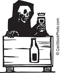 halál, bor