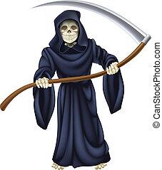 halál, csontváz, zord reaper