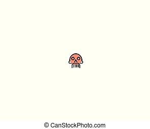 halál, illustration., koponya, veszély, -, jelkép, tervezés, jel, aláír, ikon