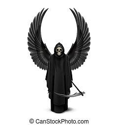 halál, két, angel szárny