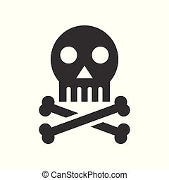halál, koponya, aláír, orvosi, kapcsolódó, szilárd, healthcare, keresztezett lábszárcsontok, ikon