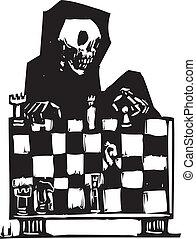 halál, sakkjáték