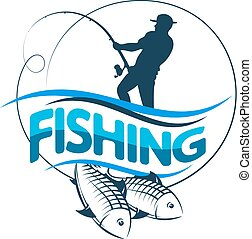 halász, árnykép, beakad, fish