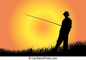 halász, árnykép