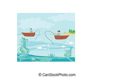 halász, halászhajó