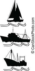 halászat, hajó, fenékhálós halászhajó
