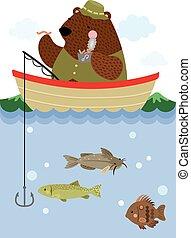 halászat, hord