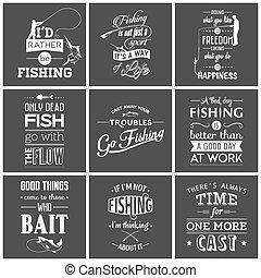 halászat, szüret, nyomdai, állhatatos, idézőjelek