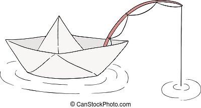 halászhajó, ábra, dolgozat